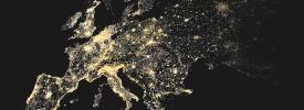 歐洲地圖,重要區域發亮
